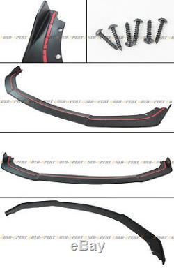 Pour 16-18 Honda CIVIC Ctr Style Pare-chocs Avant Lèvres Splitter + Honeycomb Blk Grille