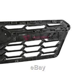 Pour 18-19 + Subaru Crosstrek Pare-chocs Avant Upper Grille Haut Débit D'air Noir Brillant