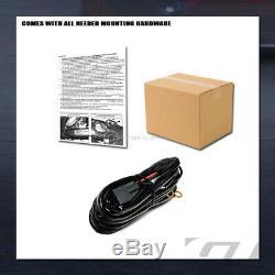 Pour 1994-1996 Chevy / Gmc C / K C10 Mat Blk Avt Aluminium Led Bull Bar Garde Grille