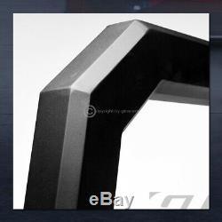Pour 1997-2000 Chevy / Gmc C / K C10 Mat Blk Avt Aluminium Led Bull Bar Garde Grille
