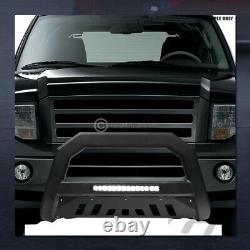 Pour 1997-2000 Chevy/gmc C/k C10 Matte Blk Avt Aluminium Led Bull Bar Grille Guard
