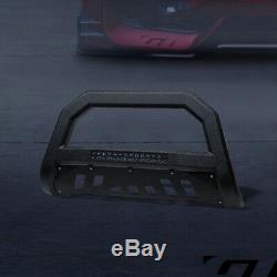 Pour 2005 / 2006-2010 Hummer H3 Texturé Blk Avt Aluminium Led Bull Bar Garde Grille