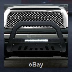 Pour 2005-2015 Toyota Tacoma Texturé Blk Avt Aluminium Led Bull Bar Garde Grille