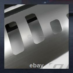 Pour 2007-2010 Silverado/sierra 2500 Matte Blk Bull Bar Bumper Grille Guard+skid