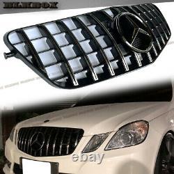 Pour 2010 2011 2012 2013 Mercedes Benz W212 Gt Grille Avant Chrome Bar Black Base