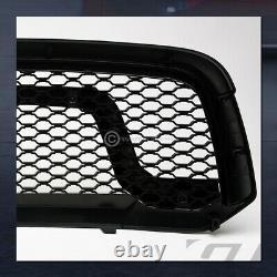 Pour 2013-2018 Dodge Ram 1500 Blk Dual Lamp Phares Nb+matte Rebel Mesh Grille