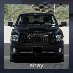 Pour 2013-2018 Dodge Ram 1500 Matte Blk Rebel Honeycomb Mesh Front Bumper Grille