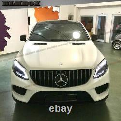 Pour 2016 2017 2018 2019 Mercedes Benz C292 Gle Coupe Gt Chrome Bar Grille Noire
