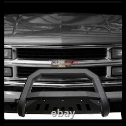 Pour 88-93 Chevy/gmc C10 C/k Truck/suv Matte Blk Avt Bull Bar Bumper Grille Guard