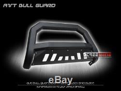 Pour 99-07 Chevy Silverado / Sierra 1500 Matte Blk Avt Bull Bar Garde Bumper Grille