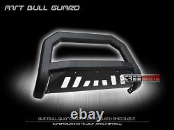 Pour Durango 11-13 / 11-15 Grand Cherokee Matte Blk Avt Bull Bar Grill Grille Garde