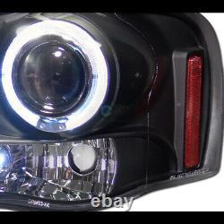 S'adapte 02-05 Dodge Ram Blk Halo Projecteur Led Phares Am +rivet Bolt Mesh Grille