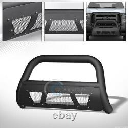 S'adapte 04-20 Ford F150/03+ Expedition Matte Blk Studded Mesh Bull Bar Grille Guard
