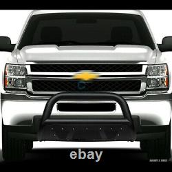 S'adapte 07-21 Toyota Tundra/sequoia Textured Blk Studded Mesh Bull Bar Grille Guard