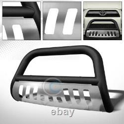 S'adapte 10-21 Toyota 4runner Matte Blk / Skid Bull Bar Brush Push Bumper Grille Guard
