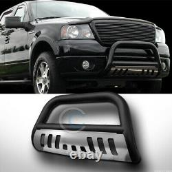 S'adapte 97-03 Ford F150/f250/expedition Matte Blk/skid Bull Bar Bumper Grille Guard