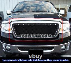 Ss 1.8mm Blk Z Mesh Grille Pour 2004-2008 Ford F-150 Rivet