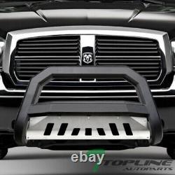 Topline Pour 2005-2011 Dodge Dakota Avt Bull Bar Grille Guard -matte Blk/aluminium