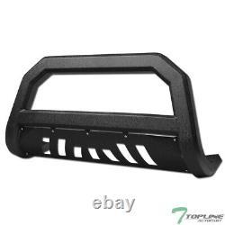 Topline Pour 2007-2014 Toyota Fj Cruiser Avt Bull Bar Grille Garde Texturé Blk