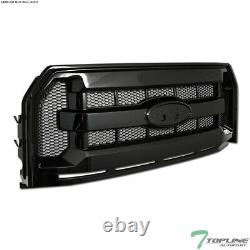 Topline Pour 2015-2017 Ford F150 Oe Honeycomb Mesh Front Hood Bumper Grille Blk