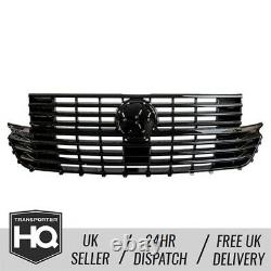 Vw T6.1 Gloss Black Badged Grille Avant Du Transporteur (2020-courant)